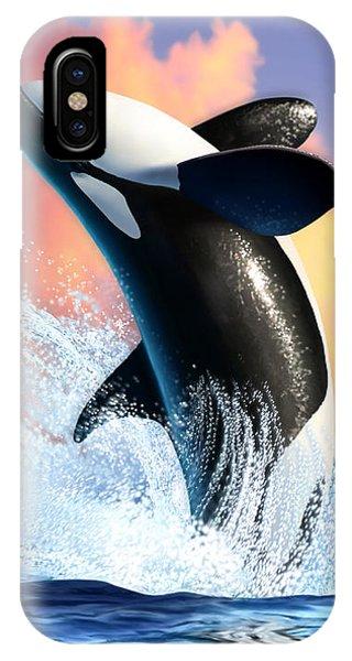 Free iPhone Case - Orca 1 by Jerry LoFaro
