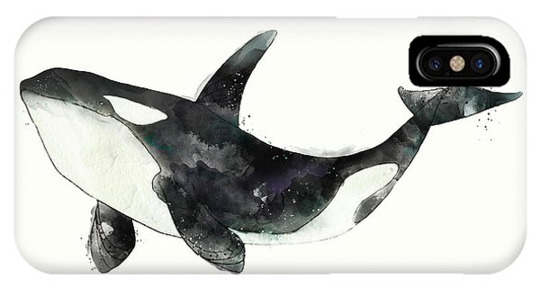 Whale iPhone Case - Orca From Arctic And Antarctic Chart by Amy Hamilton