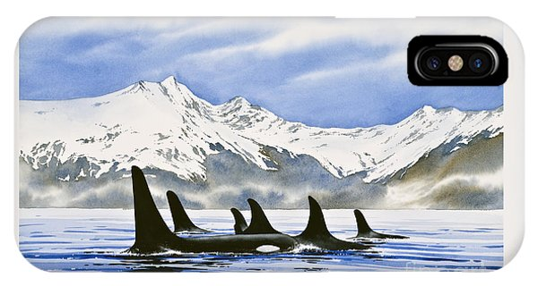 Whales iPhone Case - Orca by James Williamson