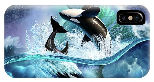 Wet iPhone Case - Orca Wave by Jerry LoFaro