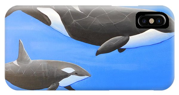 Orca With Baby IPhone Case
