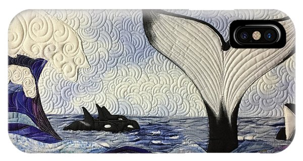 Orcas At Play IPhone Case