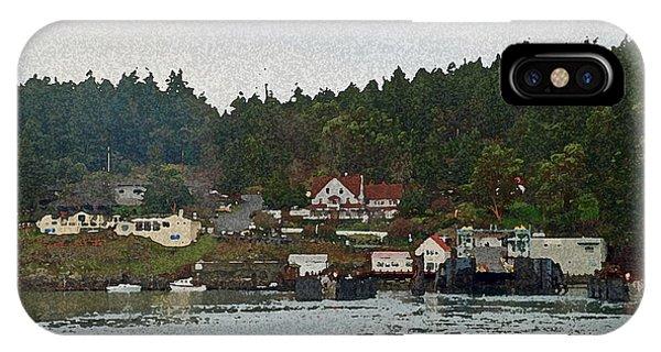 Orcas Island Dock Digital IPhone Case