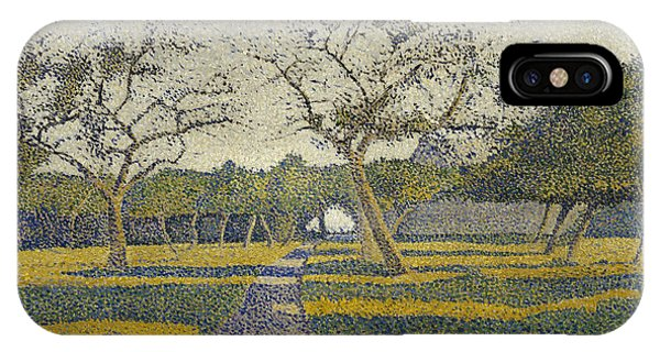 Orchard iPhone Case - Orchard At La Louviere by Alfred William Finch