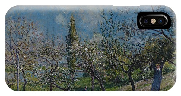 Orchard iPhone Case - Orchard In Spring by Alfred Sisley