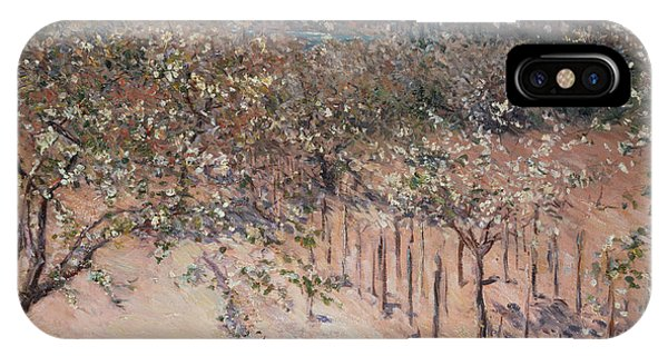 Orchard iPhone Case - Orchard With Flowering Apple Trees by Gustave Caillebotte
