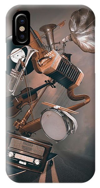 Harp iPhone Case - Orchestra On The Way by Mihaela Pater