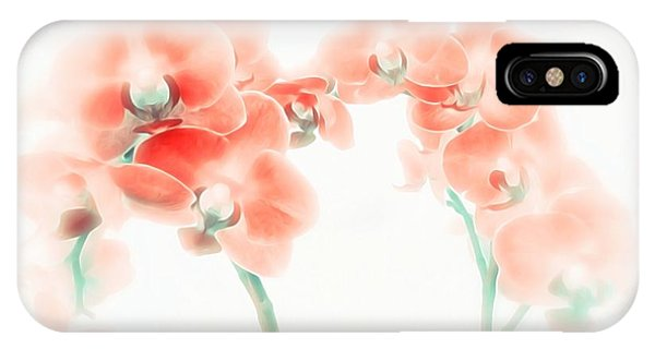 Orchid Collection 'soft Red' IPhone Case