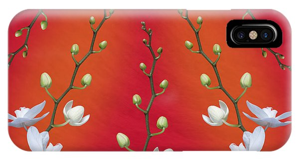 Orchid iPhone X / XS Case - Orchid Ensemble by Tom Mc Nemar