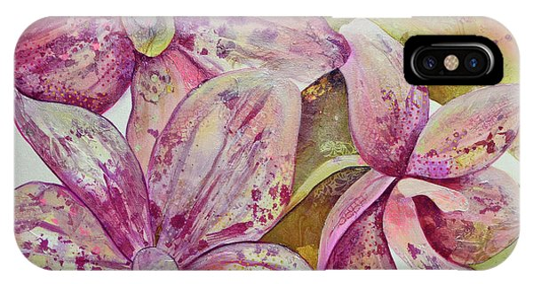 Trio iPhone Case - Orchid Envy by Shadia Derbyshire