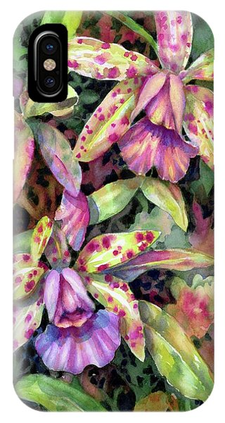 Orchid Garden I IPhone Case