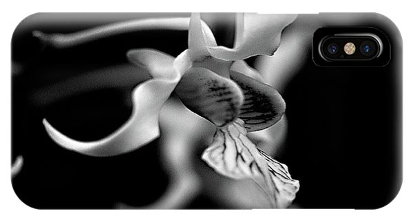 Orchid In Black And White IPhone Case