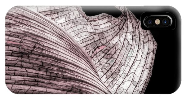 Orchid iPhone Case - Orchid Leaf Macro by Tom Mc Nemar