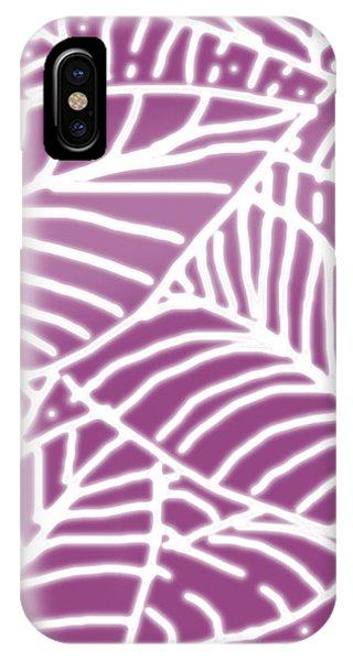 Orchid Leaves Batik IPhone Case