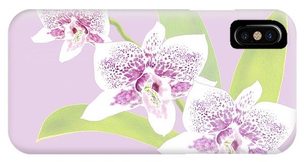 Orchid Trio - Lavender IPhone Case
