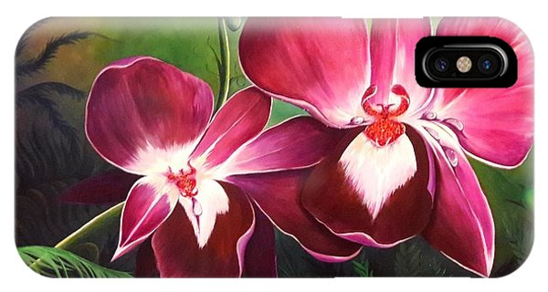 Orchids In The Night IPhone Case