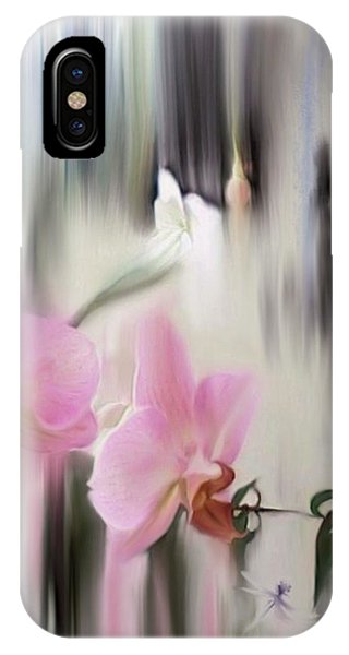 Orchids With Dragonflies IPhone Case