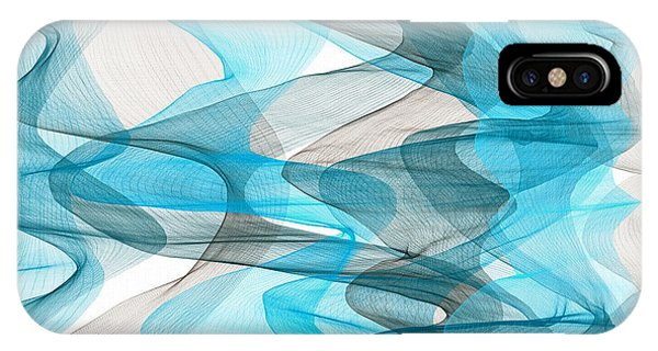 Orderly Blues And Grays IPhone Case