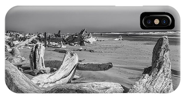 Oregon Beach Driftwood IPhone Case
