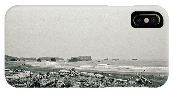 Oregon Beach With Driftwood IPhone Case
