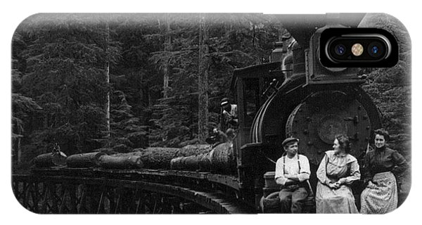 Trestle iPhone Case - Oregon: Logging Train by Granger