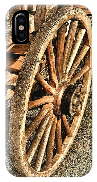 Wagon Wheel iPhone Case - Oregon Trail  by Olivier Le Queinec