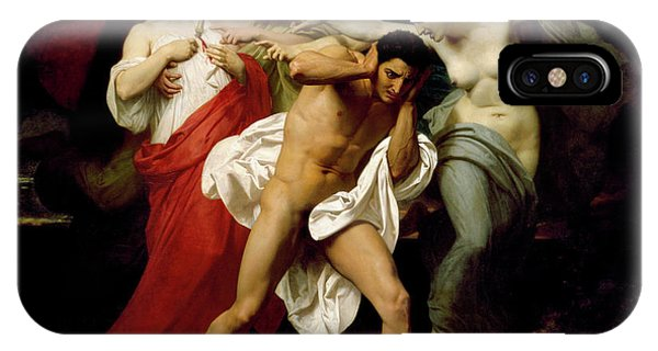 1862 iPhone Case - Orestes Pursued By The Furies by Adolphe William Bouguereau