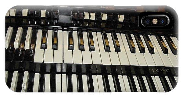 Hammond Organ Keys IPhone Case