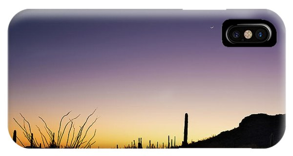 Organ iPhone Case - Organ Pipe Cactus National Monument Sunset by Steve Gadomski