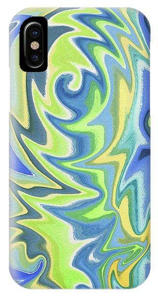 Organic Abstraction iPhone Case - Organic Abstract Swirls Cool Blues by Irina Sztukowski