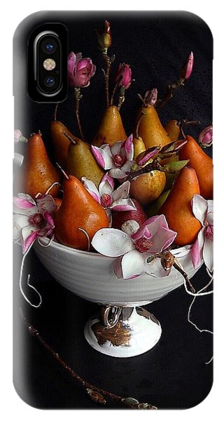 Organic Bosc Pears And Magnolia Blossoms IPhone Case
