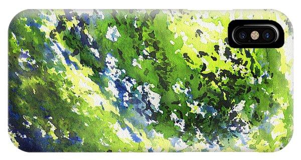 Organic Abstraction iPhone Case - Organic Curve Abstract Watercolor by Irina Sztukowski