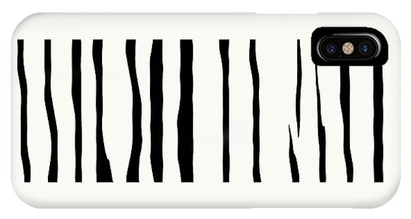 Organic No 12 Black And White Line Abstract IPhone Case