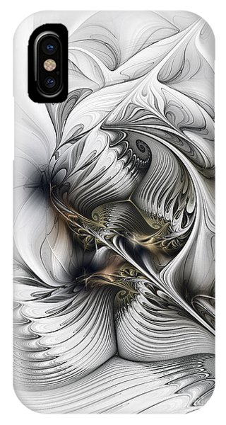 Organic Abstraction iPhone Case - Organic Spiral Tower Construction by Karin Kuhlmann