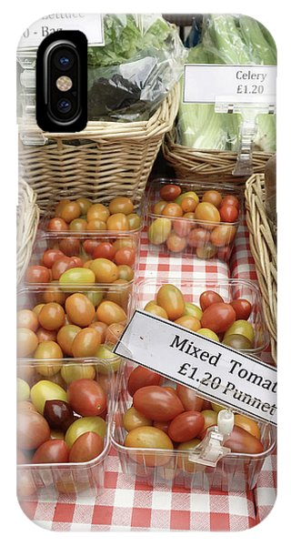 Small Business iPhone Case - Organic Tamtoes At The Market by Tom Gowanlock