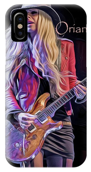 Alice Cooper iPhone Case - Orianthi by Mal Bray