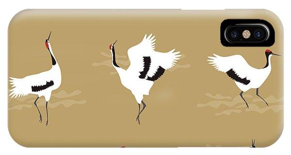 Oriental Cranes IPhone Case
