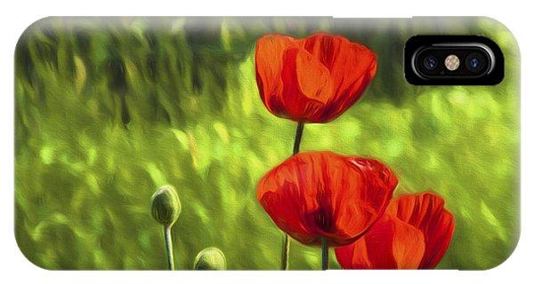 Salo iPhone Case - Oriental Poppies by Veikko Suikkanen