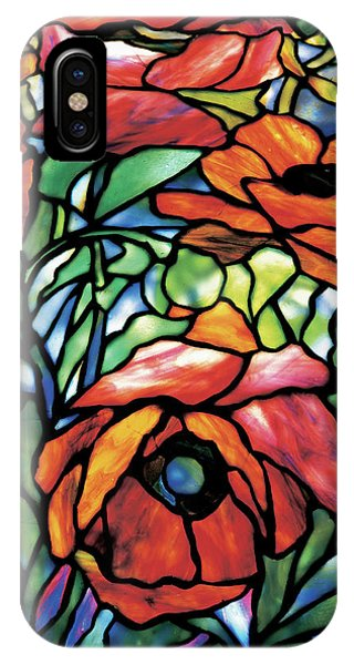 Oriental Poppy Flame Tree Edition Phone Case by Louis Comfort Tiffany