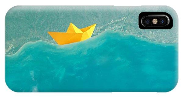 Teal iPhone Case - Origami by Jacky Gerritsen