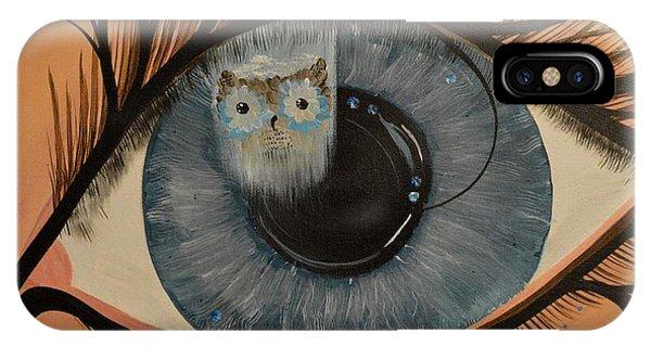 Original Acrylic Artwork By Mimi Stirn - Hoomasters Collection Hoodali #412 Mimi's Self Portrait IPhone Case