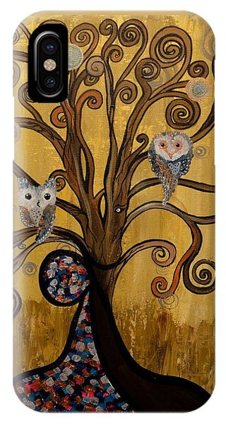 Original Acrylic Artwork By Mimi Stirn - Hoomasters Collection -hooklimt #414 IPhone Case