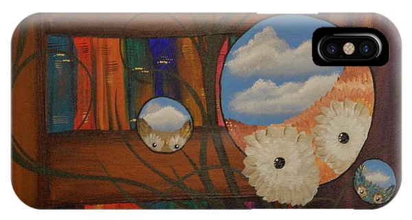 Original Artwork By Mimi Stirn - Hoomasters Collection - Hoo Magritte #411 IPhone Case