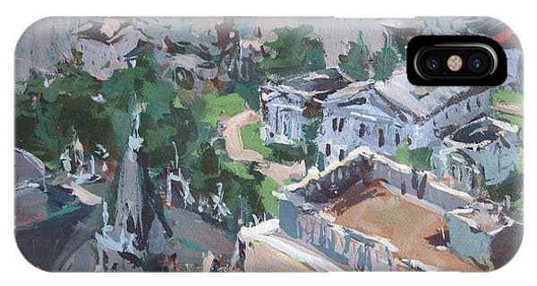 Original Contemporary Cityscape Painting Featuring Virginia State Capitol Building IPhone Case