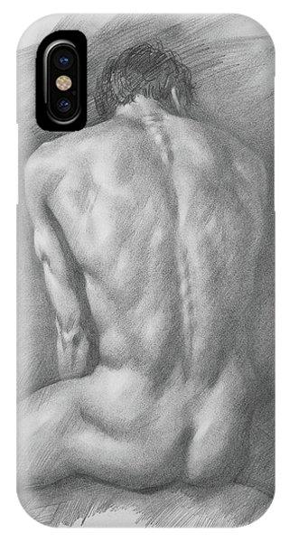 original Drawing male nude man #17325 IPhone Case