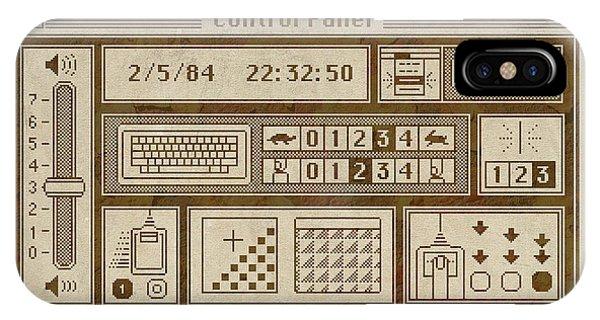 Office iPhone Case - Original Mac Computer Control Panel Circa 1984 by Design Turnpike