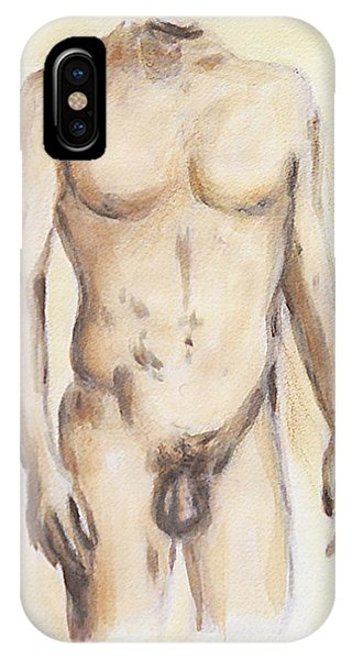Original Painting Of A Nude Male Torso IPhone Case