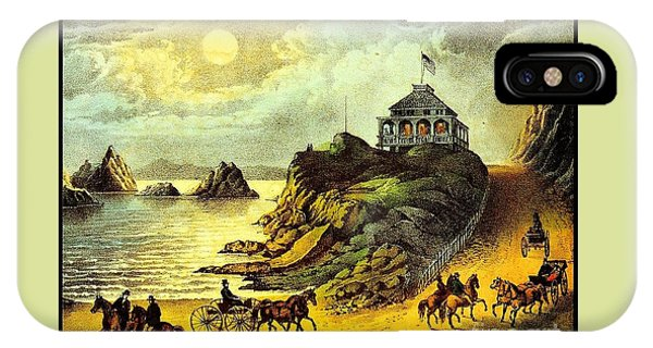 Original San Francisco Cliff House Circa 1865 IPhone Case