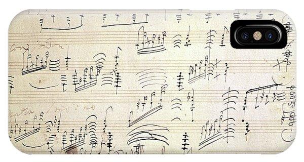 Original Score Of Beethoven's Moonlight Sonata IPhone Case