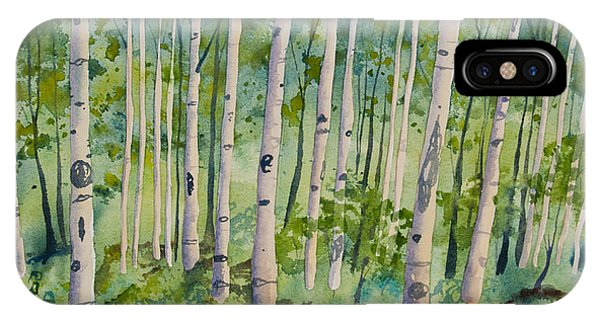 Original Watercolor - Summer Aspen Forest IPhone Case
